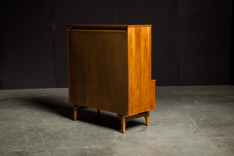 Mid-20th Century 'Brasilia' by Broyhill Premier Highboy Dresser, Refinished, 1960s, Signed  For Sale