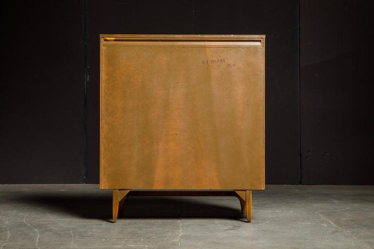 Brass 'Brasilia' by Broyhill Premier Highboy Dresser, Refinished, 1960s, Signed  For Sale