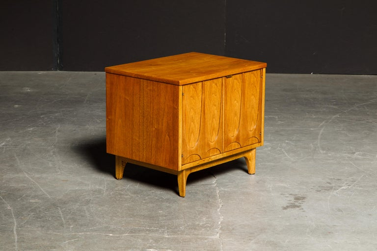 Mid-20th Century 'Brasilia' by Broyhill Premier Pair of End Tables, Refinished, 1960s For Sale