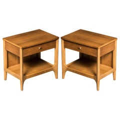 'Brasilia' by Broyhill Premiere Pair of Nightstands, Refinished, 1962