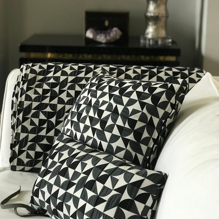 Brasilia Pattern Cushion Curvature Collection Inspired Brazilian Architecture For Sale 3