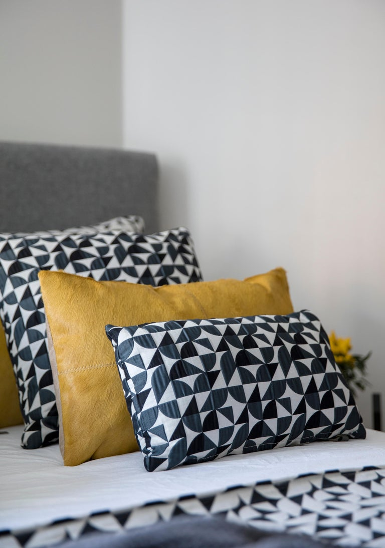 British Brasilia Pattern Cushion Curvature Collection Inspired Brazilian Architecture For Sale