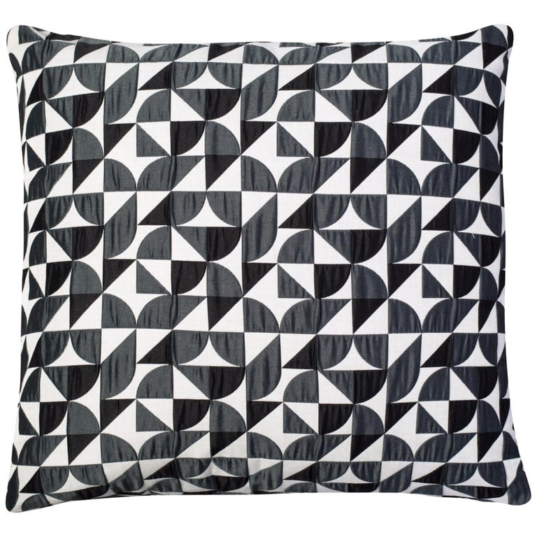 Brasilia Pattern Cushion Curvature Collection Inspired Brazilian Architecture For Sale