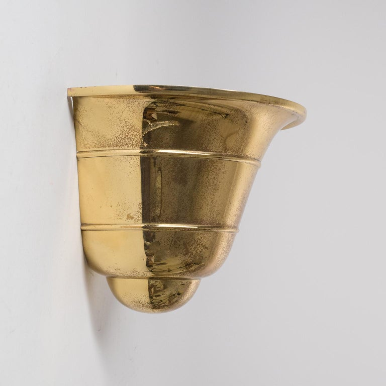 Brass 1930s Uplight Sconces, WMF Ikora In Good Condition For Sale In Vienna, AT