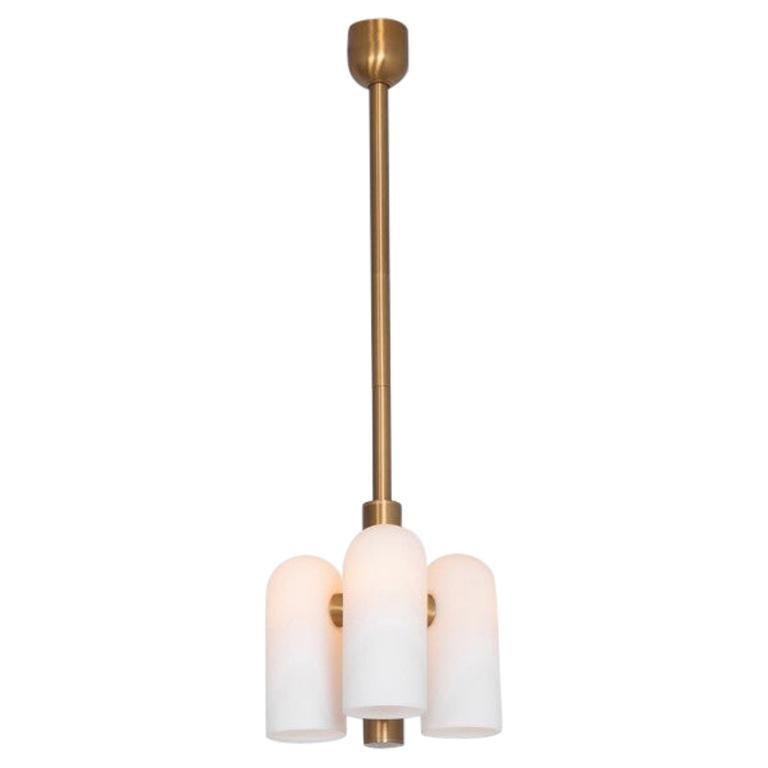 Brass 3 Pendant Light by Schwung