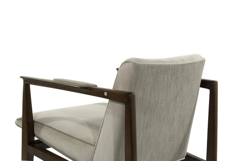 20th Century Brass Accented Edward Wormley for Dunbar Lounge Chairs For Sale