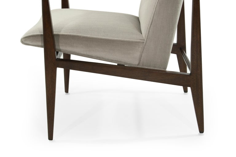 Brass Accented Edward Wormley for Dunbar Lounge Chairs For Sale 2