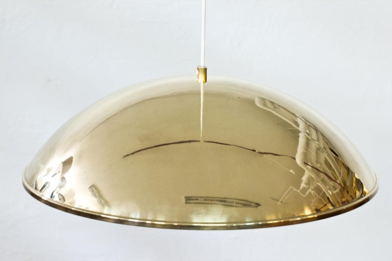 Swedish Brass and Acrylic Pendant Lamp by Bergboms For Sale