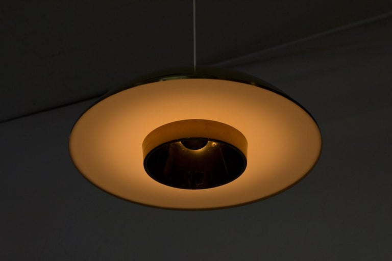 Brass and Acrylic Pendant Lamp by Bergboms For Sale 1