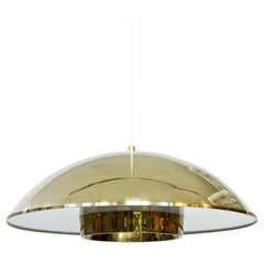 Brass and Acrylic Pendant Lamp by Bergboms