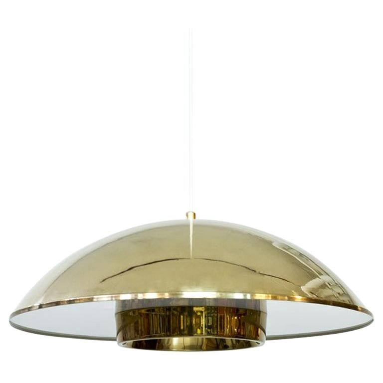 Brass and Acrylic Pendant Lamp by Bergboms For Sale
