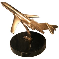 Brass Airplane Sculpture Paper Weight