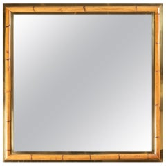 Brass and Bamboo Mirror