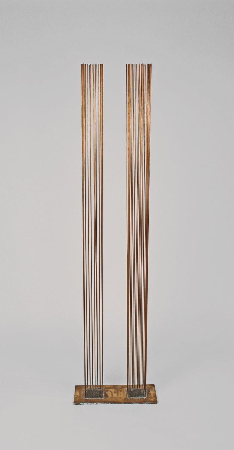 Modern Brass and Beryllium Copper Sonambinet Sounding Sculpture by Val Bertoia For Sale