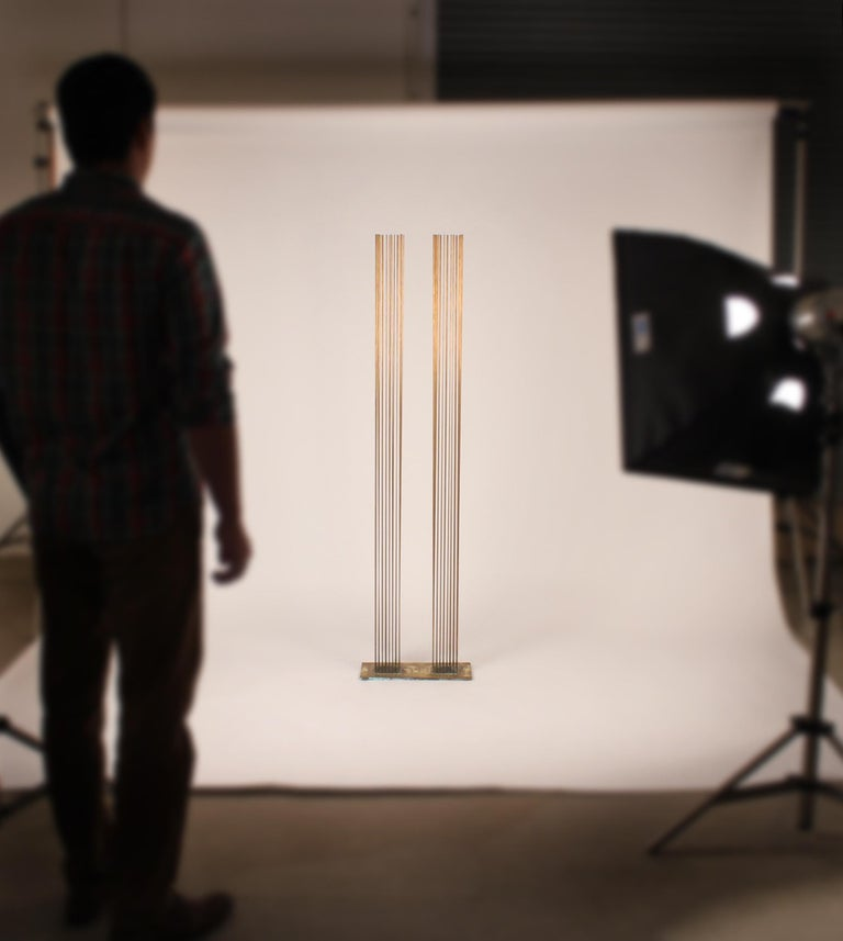 American Brass and Beryllium Copper Sonambinet Sounding Sculpture by Val Bertoia For Sale