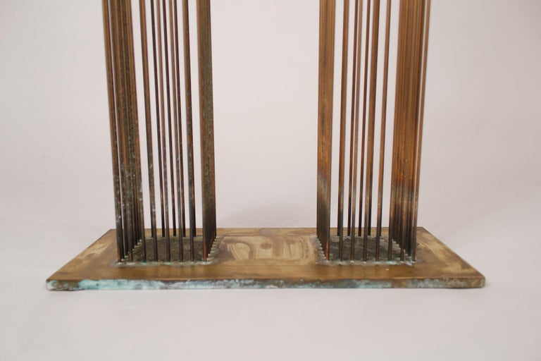 Brass and Beryllium Copper Sonambinet Sounding Sculpture by Val Bertoia In Excellent Condition For Sale In Dallas, TX