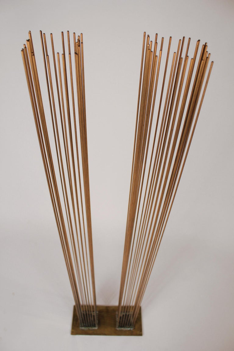 Brass and Beryllium Copper Sonambinet Sounding Sculpture by Val Bertoia For Sale 1