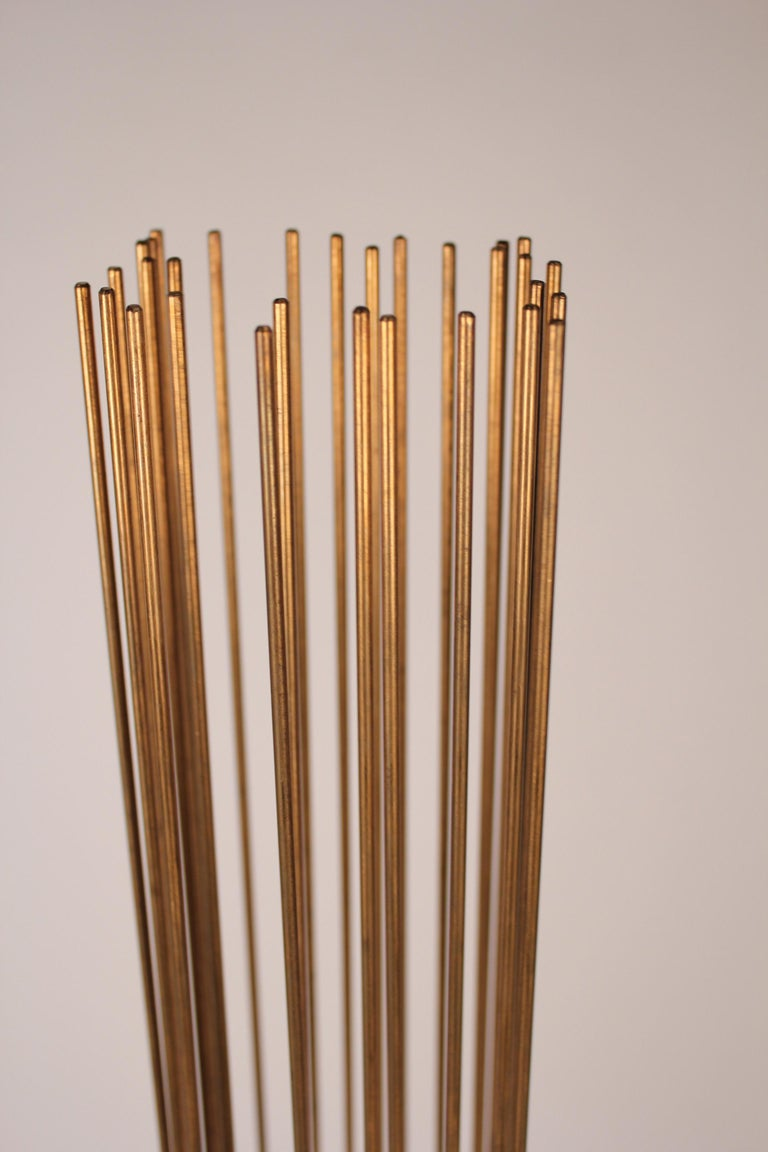 Brass and Beryllium Copper Sonambinet Sounding Sculpture by Val Bertoia For Sale 3