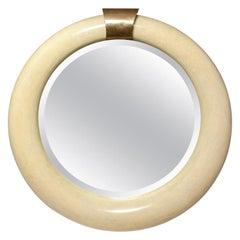 Brass and Bone Tessellated Mirror
