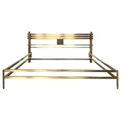 Brass and Bronze Bed Frame, Model Greta, by Frigerio, Italy, 1970s