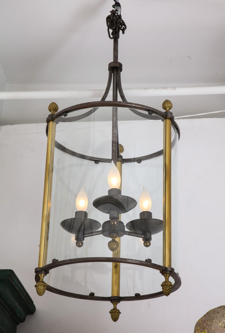 Brass and Bronze Lantern For Sale 8