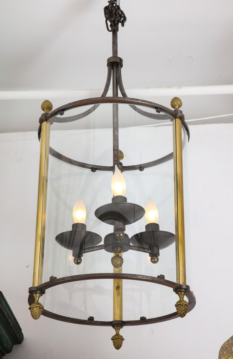 Brass and Bronze Lantern For Sale 1