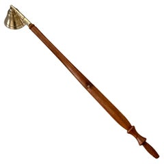 Brass and Carved Wood Candle Snuffer