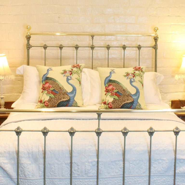 A Hand Painted Br And Cast Iron Bed With Decorative Castings This Is Finished