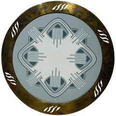 Brass and Ceramic Tray