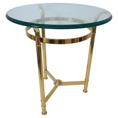 Brass and Chrome Side Table by Mastercraft