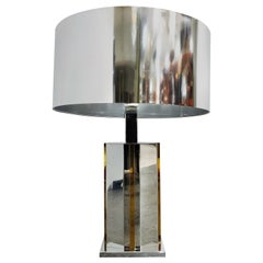 Brass and Chrome Table Lamp, 1970s