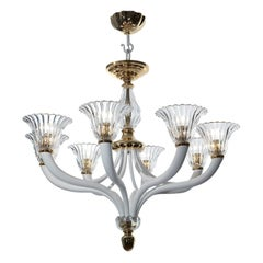 Brass and Crystal Chandelier by Banci
