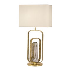 "Brass and Crystal ""Potter"" Table Lamp"