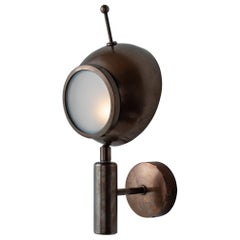 Brass and Frosted Glass Wall Sconce, Italy, 21st Century