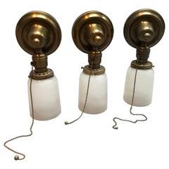 Messing und Matte Glas Wandleuchten Lichter