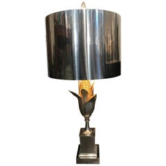"Brass and Gilt Bronze ""Corn"" Table Lamp by Maison Charles et Fils"