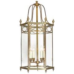 Brass and Glass Art Deco Period Lantern