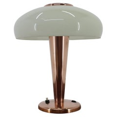 Brass and Glass Bauhaus Table Lamp, 1930s