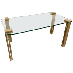 Brass and Glass Coffee Table, 1980s