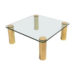 Brass and Glass Coffee Table by Pace
