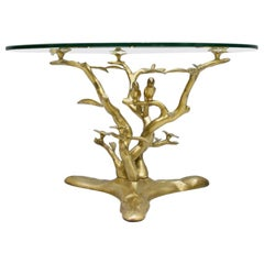 Brass and Glass Coffee Table by Willy Daro, Belgium, 1970s