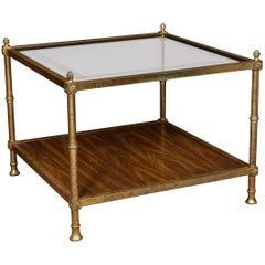 Brass and Glass Coffee Table in the Manner of Maison Jansen
