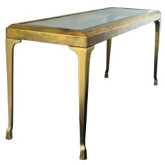 Brass and Glass Console/Hall Table by Mastercraft