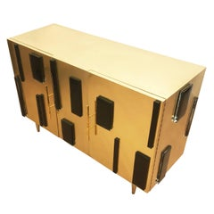 Brass and Glass Credenza by Interno 43 for Gaspare Asaro