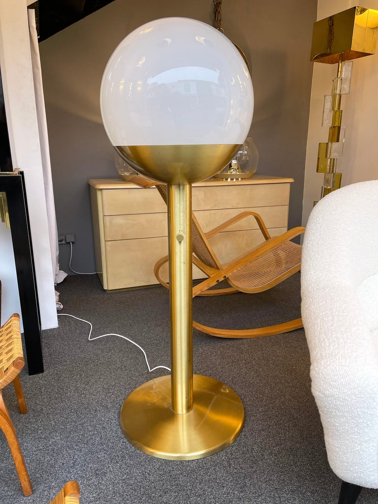 Brass and Glass Floor Lamp P428 by Pia Guidetti Crippa for Luci, Italy, 1970s For Sale 3