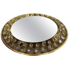 Brass and Glass Illuminated Mirror from Palwa, 1960s