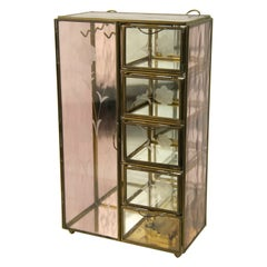 Brass and Glass Jewelry Case