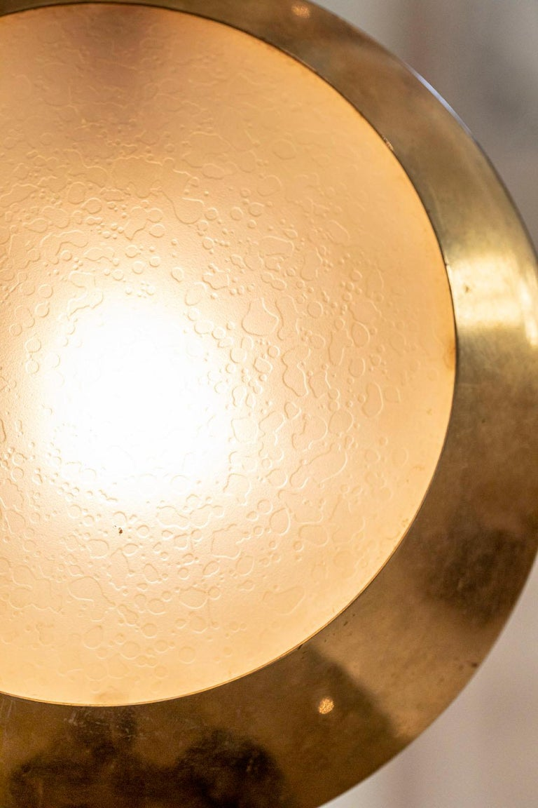 Brass and Glass Pendant by Stilnovo For Sale 4