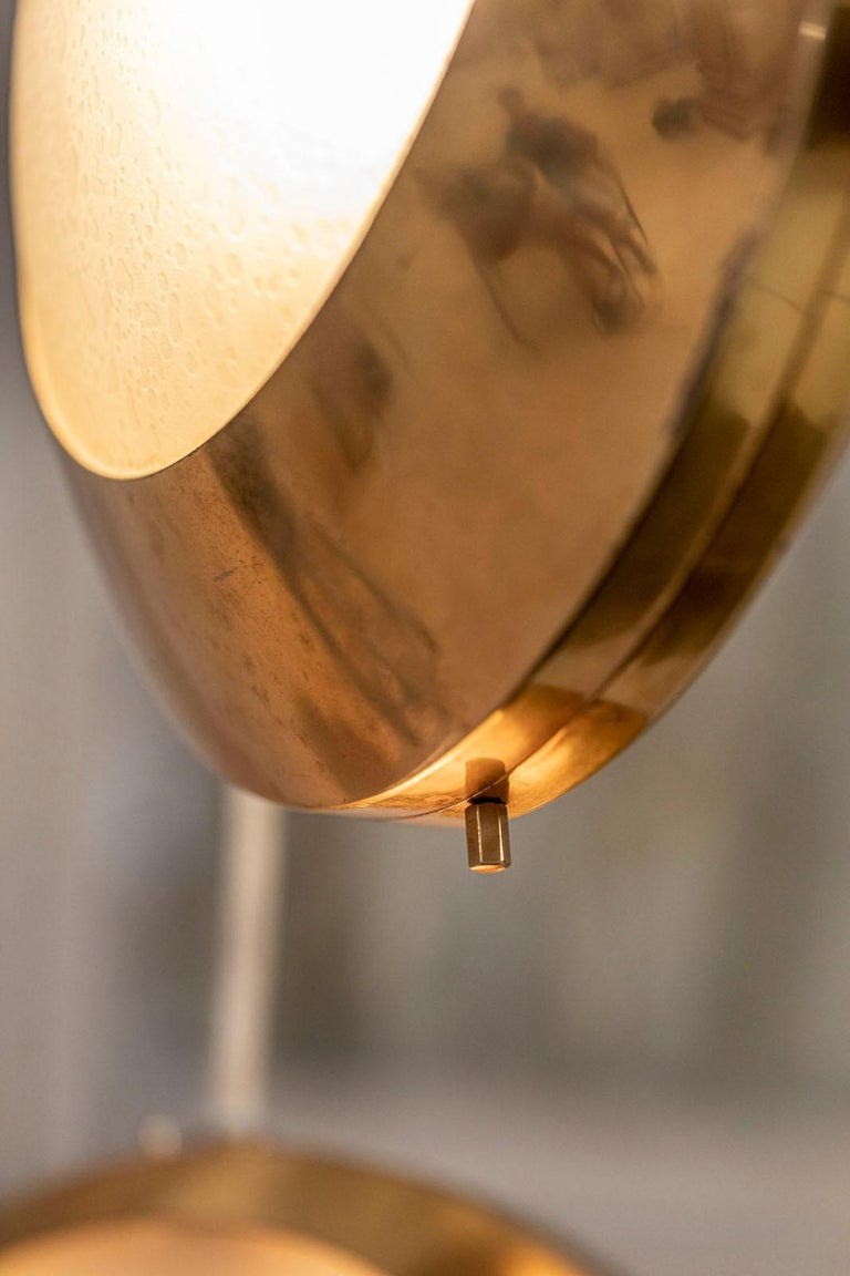 Brass and Glass Pendant by Stilnovo For Sale 1