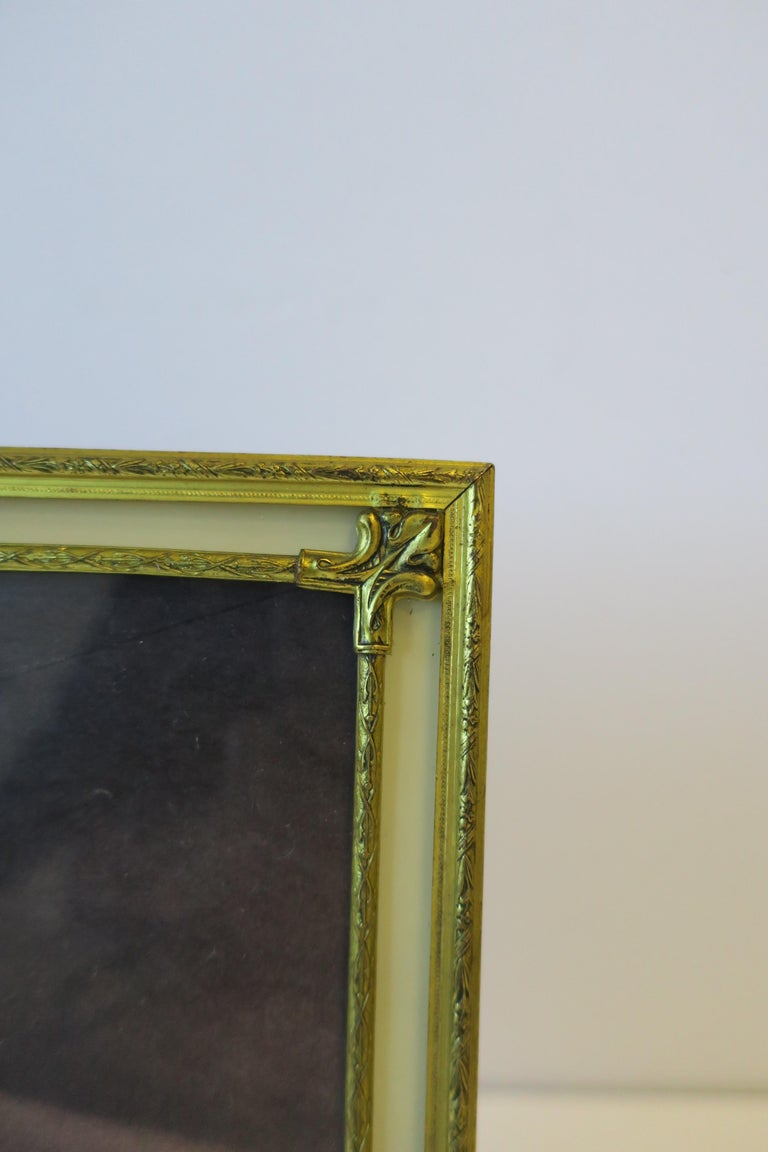 Brass and Glass Picture Frame For Sale 2